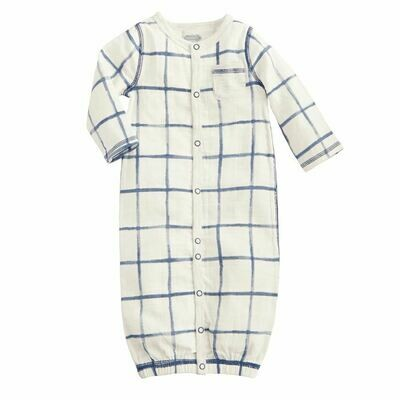 Mud Pie Muslin Plaid Sleep Gown