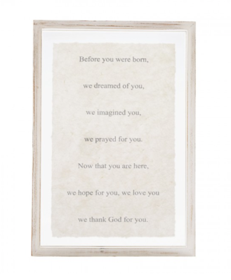 Mud Pie We Prayed for You Glass Plaque