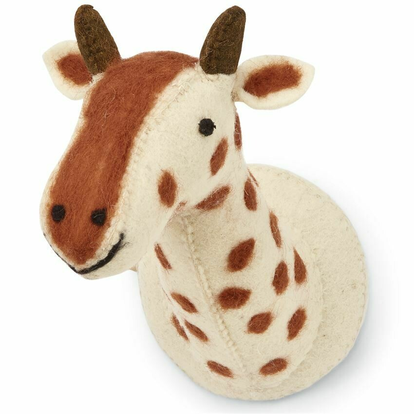 Mud Pie Felt Mini Giraffe Wall Mount