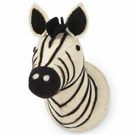 Mud Pie Felt Mini Zebra Wall mount
