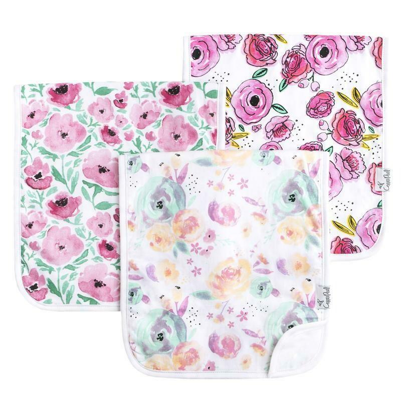 Copper Pearl Burp Cloths - Bloom