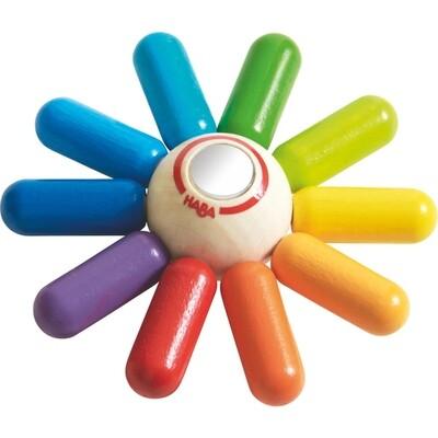 Haba Rainbow Sun Clutching Toy/Teether