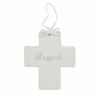 Mud Pie Blessed Ceramic Cross