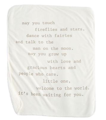 Mud Pie Fireflies Sherpa Blanket