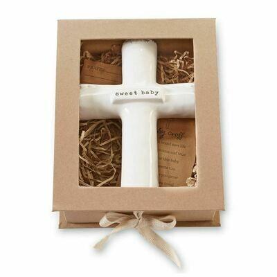 Mud Pie Sweet Baby Prayer Cross