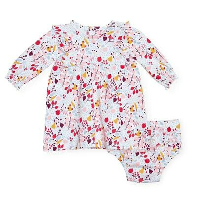 Magnetic Me PomPom Organic Cotton Dress/Diaper Cover Set