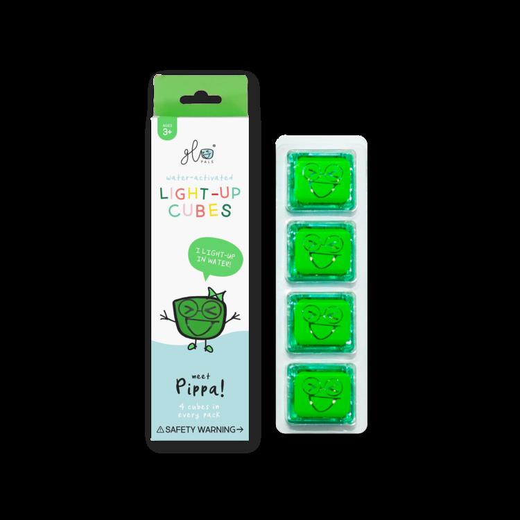 Pippa - Green Light Up Cubes