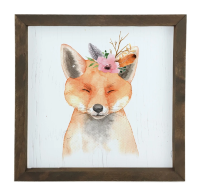 12 Timbers Woodland Wall Art - Fox