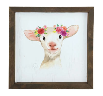 12 Timbers Woodland Wall Art - Lamb