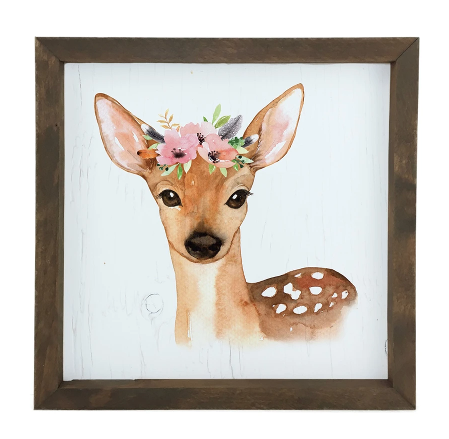 12 Timbers Woodland Wall Art - Deer
