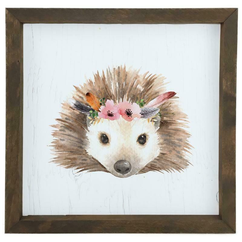 12 Timbers Woodland Wall Art - Hedgehog