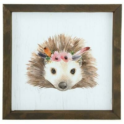 12 Timbers Woodland Wall Art - Hedgehog