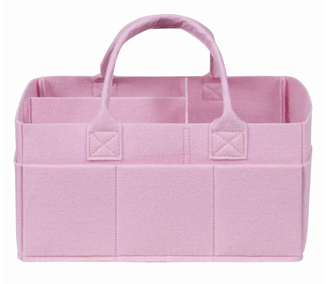 Sammy Lou Fabric Storage Caddy - Pink