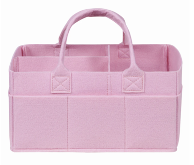 Sammy Lou Fabric Storage Caddy - Pink