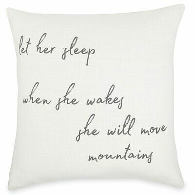 Mud Pie Move Mountains Pillow