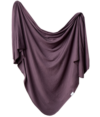 Copper Pearl Knit Swaddle Blanket - Plum