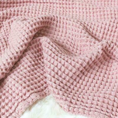 Sugar + Maple Honeycomb Blanket Blush