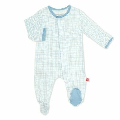 Magnetic Me Footie Greenwich Plaid