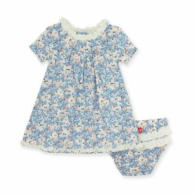 Magnetic Me Dress & Diaper Cover Somebunny Floral