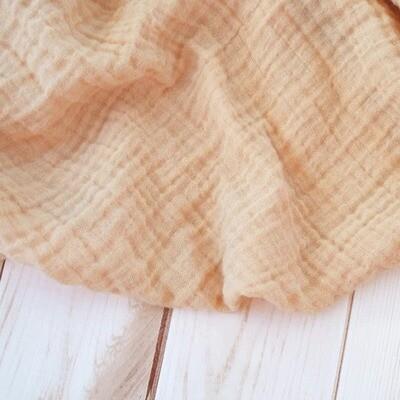sugar + maple Muslin Swaddle Blanket Sand