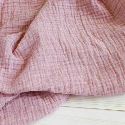sugar + maple Muslin Swaddle Blanket Blush