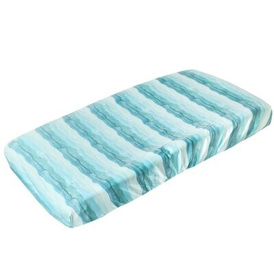 Copper Pearl Changing Pad Cover - Waves