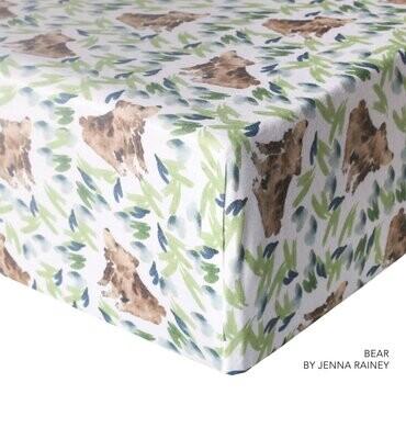 Copper Pearl Crib Sheet - Bears