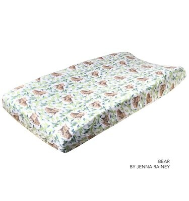 Copper Pearl Changing Pad Cover - Bears