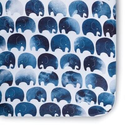 Oilo Blue Elephant Crib Sheet