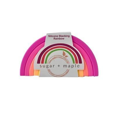 sugar + maple - Silicone Stacking Rainbow (6 pc) Neon