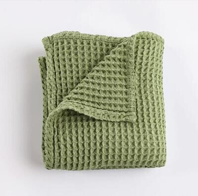 Sugar + Maple Honeycomb Swaddle Blanket - Sage