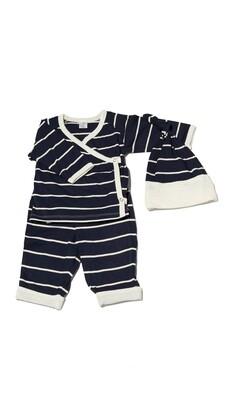 Baby Grey Kimono 3-piece set - Navy