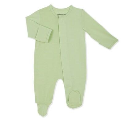 Magnetic Me Pastel Green Footie - 0-3 months