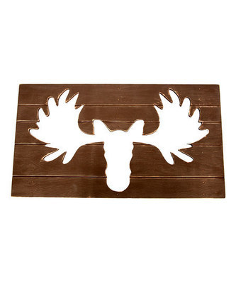 Twelve Timbers Moose Wall Decor in Rustic Red