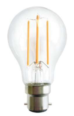 LED Filament 6W Warm White BC or ES fitting