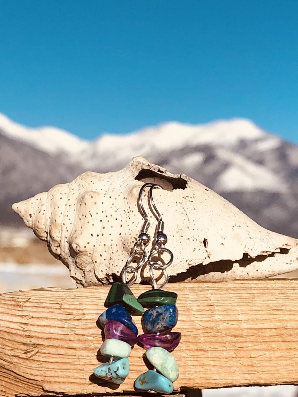 Gemstone Earings Chakra