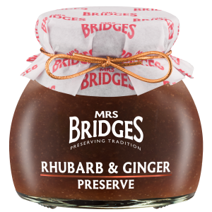 Mrs Bridges Rhubarb and Ginger Preserve 113g