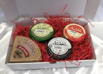 Oatcakes and 3 Isle of Arran Cheeses Gift box