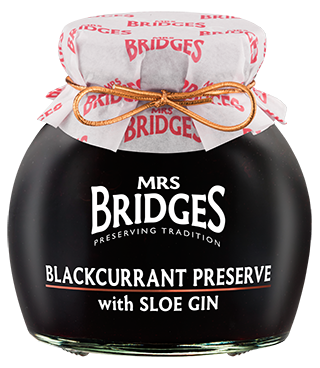 Mrs Bridges Scottish Blackcurrant Preserve with Sloe Gin 340g