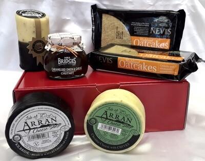 Luxury Cheese, Oatcakes and Chutney Gift Box