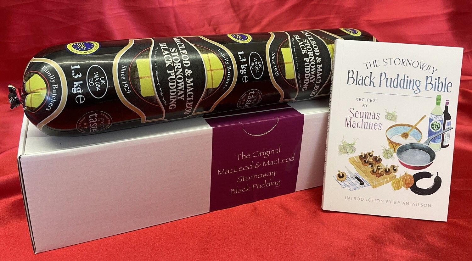 Stornoway Black Pudding in a Gift Box with The Stornoway Black Pudding Bible