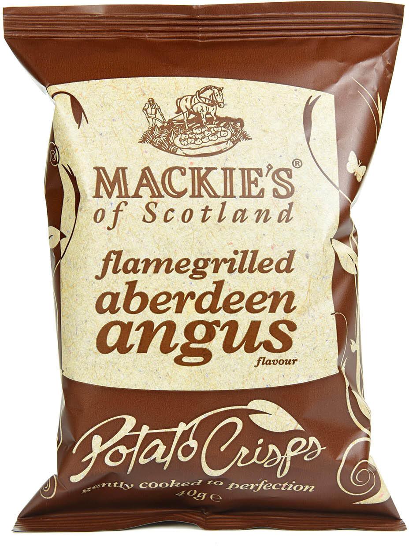 Mackie's Flamegrilled Aberdeen Angus Crisps 40g