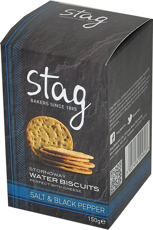 Stornoway Salt & Black Pepper Water Biscuits 150g