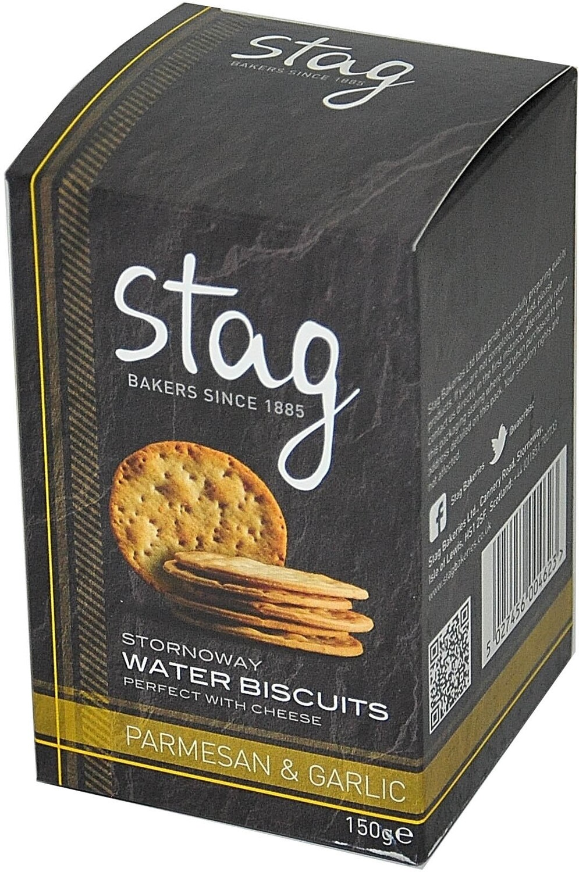 Stornoway Parmesan & Garlic Water Biscuits 150g