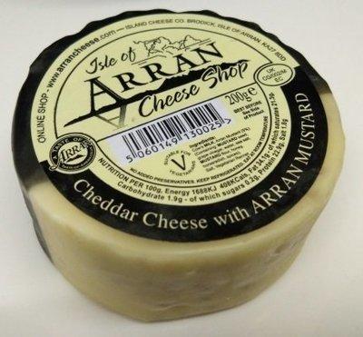 Arran Cheddar Cheese with Arran Mustard 200g
