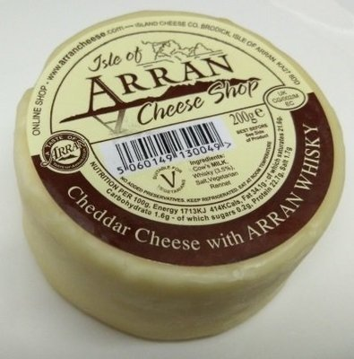 Arran Cheddar Cheese with Arran Whisky 200g