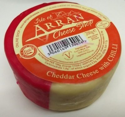 Arran Cheddar Cheese with Chilli 200g