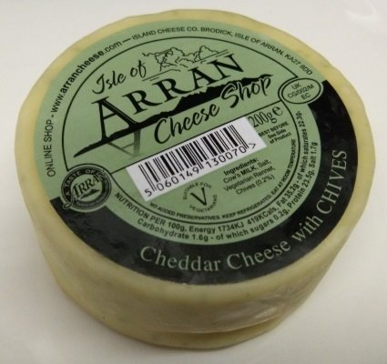 Arran Cheddar Cheese with Chives 200g