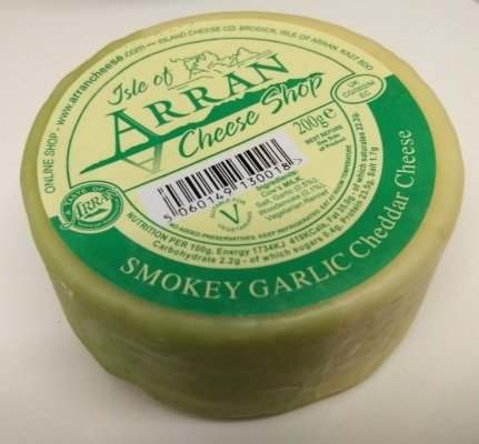 Arran Smokey Garlic Cheddar Cheese 200g
