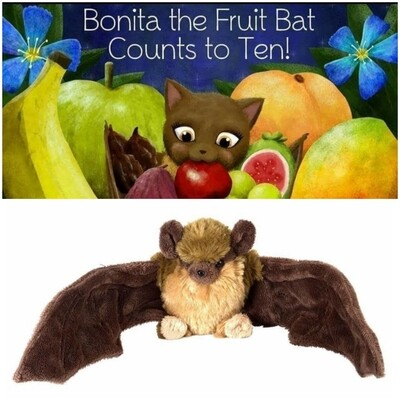 BONITA THE FRUIT BAT BOOK & PLUSHY TOY